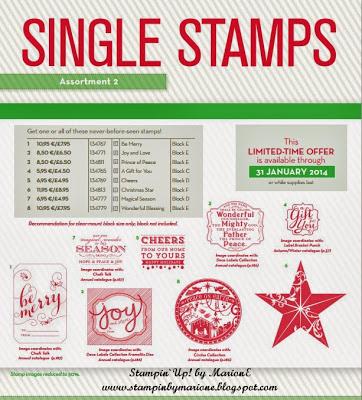 Hele mooie nieuwe Single Stamps en extra verzamelbestelling datum.