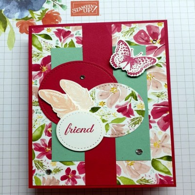 Positive Thoughts met Best Dressed designpapier van Stampin' Up!