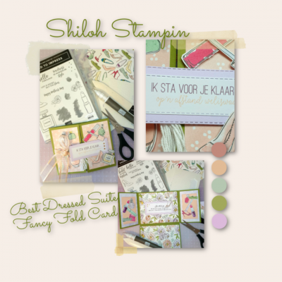 Best Dressed Suite van Stampin' Up! in Folded Kaart