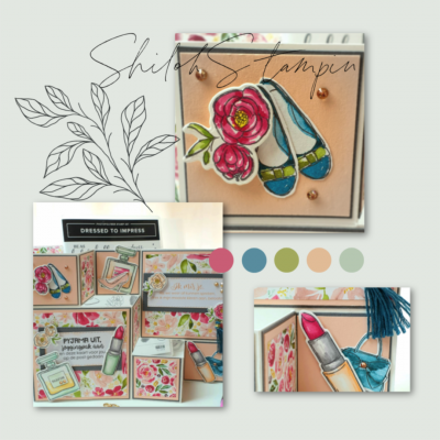 Fancy Fold kaart met Best Dressed Suite van Stampin' Up!