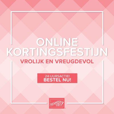 Online kortingsfestijn op 24 november